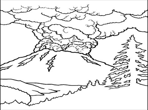 volcano coloring pages coloring pages volcano coloring pages volcano