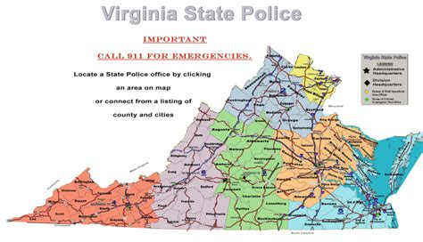 virginia state city map virginia state office locations