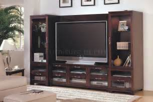 wall unit ideas cappuccino finish modern entertainment wall unit wglass