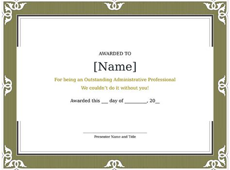 template for a certificate 30 free printable certificate templates to