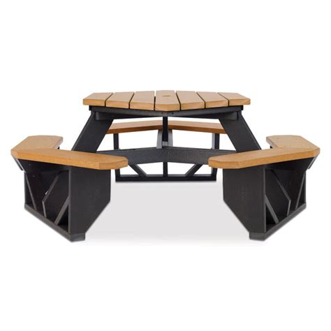recycled plastic hexagonal picnic table picnic tables