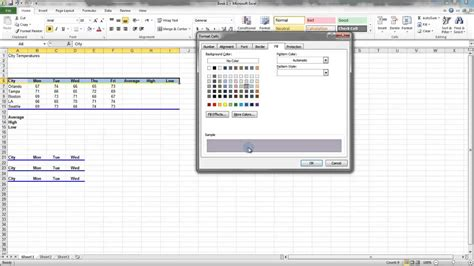 download pattern fill excel 2010 2 8 fill color pattern and gradients ms excel urdu