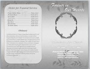 funeral programs templates microsoft word grey foliage funeral program template word letter by