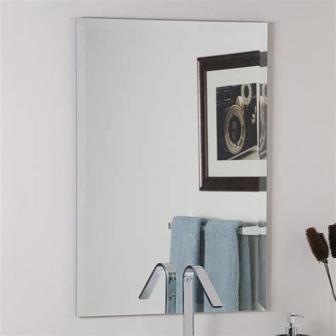 living rectangle silver tilting bevelled mirror shop bathroom mirrors  lowes bathroom ideas