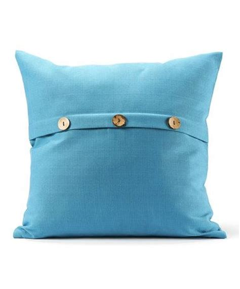 Decorative Pillows With Buttons Blue Button Throw Pillow Throw Pillows Buttons And Pillows