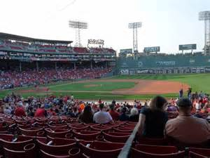 section 14 a fenway park section grandstand 14 row 1 seat 20 boston