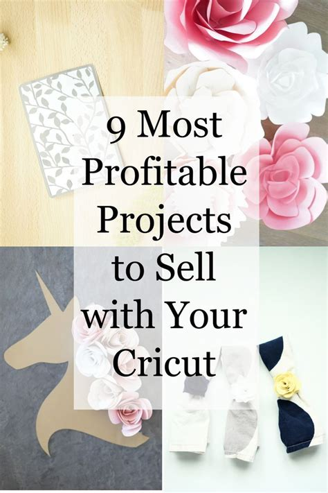 profitable cricut projects  sell crafts