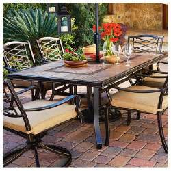 Tile Top Patio Dining Table Courtyard Classic Granada Patio Collection Tile Top Dining Table 40 X 72 In Model