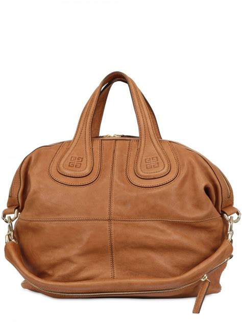 Givenchy Nightingale Bag Smooth Hardware Gold 10145 lyst givenchy nightingale medium smooth top handle in brown