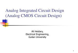cmos analog integrated circuit design ppt ece 1352f 2003 analog circuit design presentation powerpoint presentation id 232758
