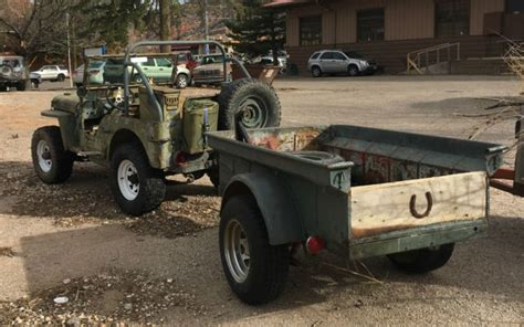 wwii jeep trailer 1944 jeep willy s 4 mb wwii era jeep with