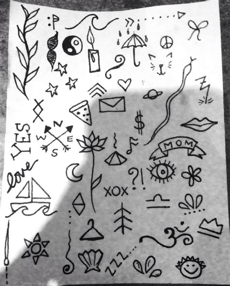 simple tattoo flash stick and poke simple ideas dreams