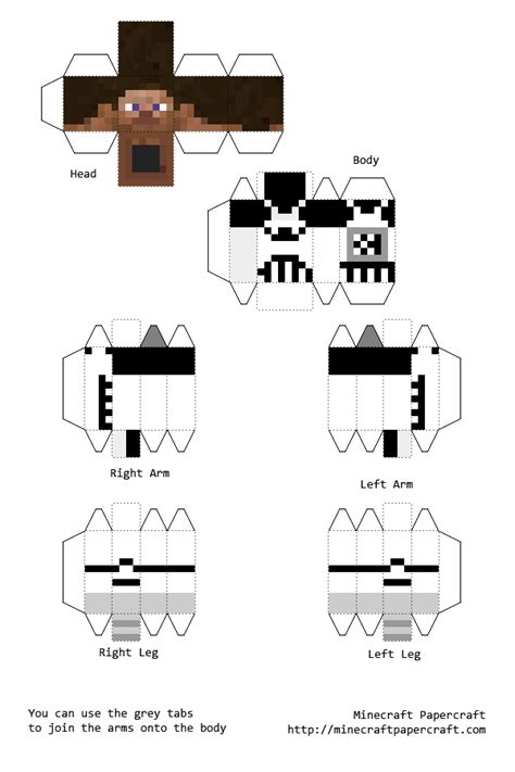 Minecraft Skin Papercraft - wars minecraft skin papercraft pictures to pin on
