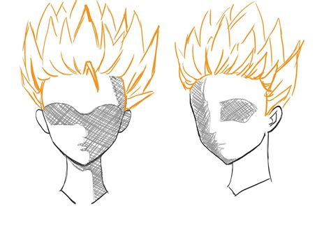 how to draw spiky anime hair how to draw anime manga hair draw central