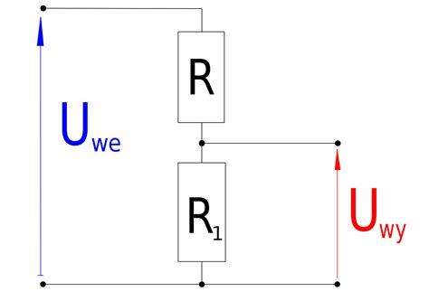 will resistor reduce voltage resistor voltage divider wikimedia commons