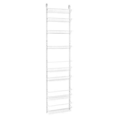 wire door organizer closetmaid 8 tier over the door adjustable wire rack
