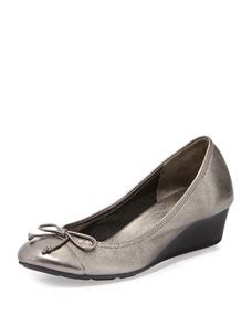 New Collection Lld590 Sandal Wedges Tali cole haan air tali metallic wedge silver