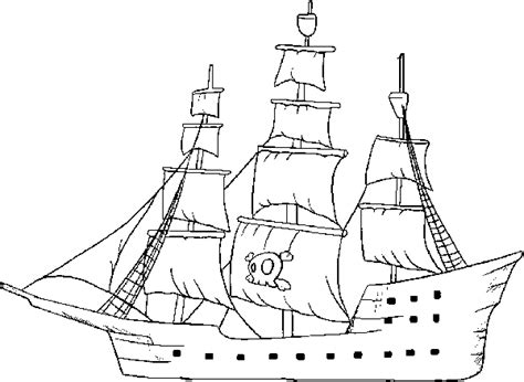 pirate ship coloring pages for kids