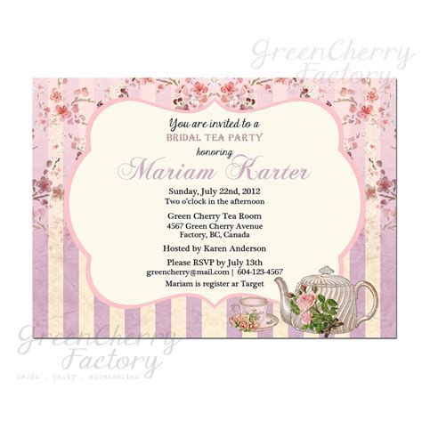 tea party invites party invitations templates