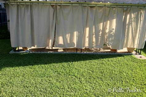 how to make patio curtains inexpensive diy outdoor patio drop cloth curtains