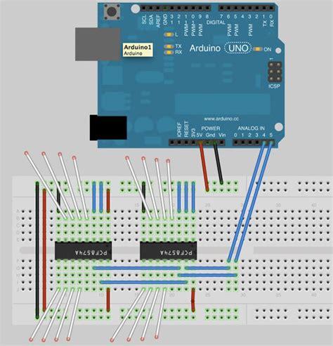 arduino i2c port expander wiring diagrams wiring diagram