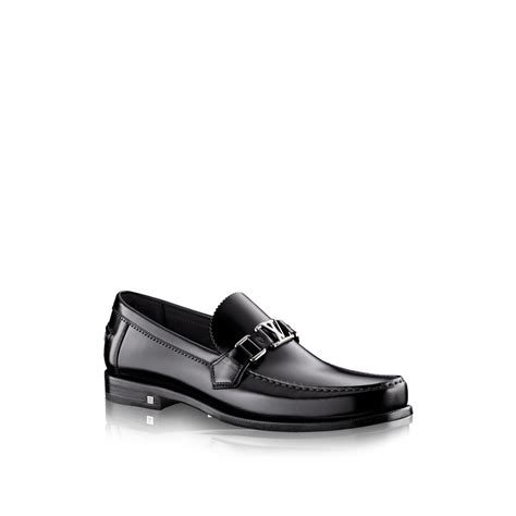 louis vuitton loafer louis vuitton major loafer in black for noir lyst