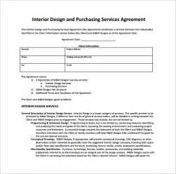interior design services agreement interior design contract template 7 free