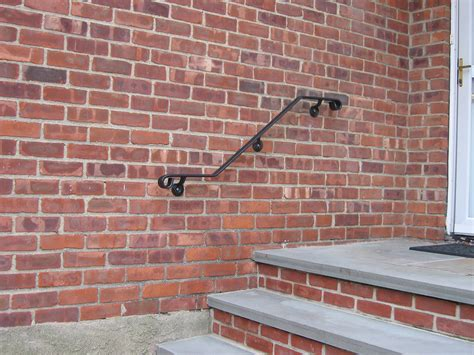 Handrail Attached To Wall Wrought Iron Railing Photos