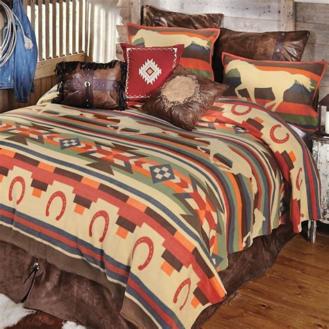horse bedroom sets desert run horse plush bedding collection