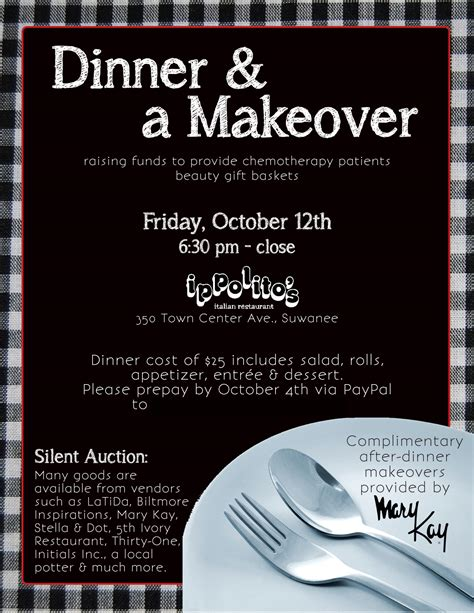 Flyer Dinner A Makeover Stephanie S Savvy Sles Dinner Flyer Template