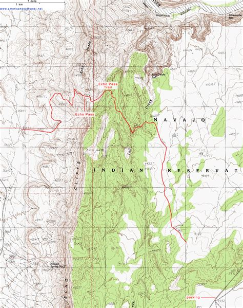 echo texas map topographic map of fall creek and the echo pass trail glen arizona