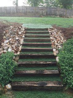 how to make hillside railroad tie landscape stairs how to make hillside railroad tie landscape stairs
