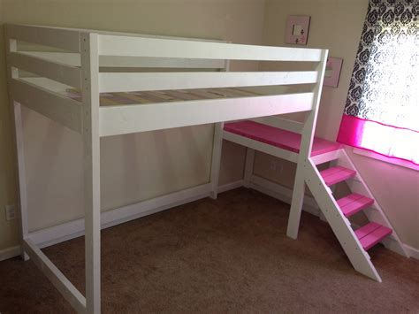 ana white c loft bed with matching doll sized loft