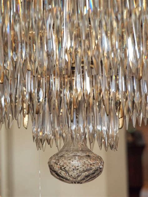 Waterfall Chandelier Antique Baccarat Waterfall Chandelier At 1stdibs