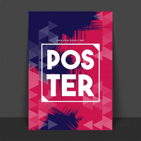 Banner Poster abstract poster banner or flyer with geometric triangular