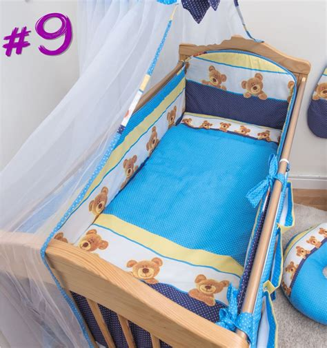 nursery cot bed sets 5 baby bedding set nursery cot cot bed all padded bumper ebay