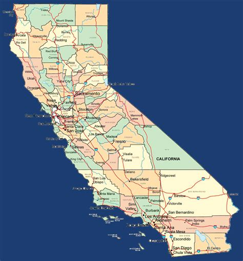 california map graphic california sights