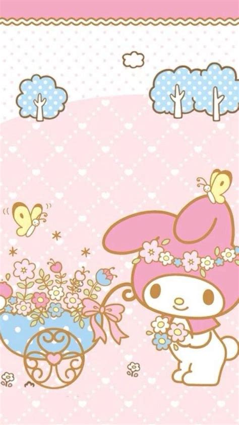 Iphone6 6s My Melody マイメロディ2 iphone壁紙 wallpaper backgrounds iphone6 6s and plus