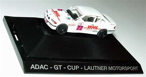 Herpa Bmw 3er Coupe Lautner Motorsport Gewinner Gt Cup 1996 1 87 bmw m3 coup 233 e36 adac gt cup 180 95 lautner motorsport dhl nr 77 f huber herpa