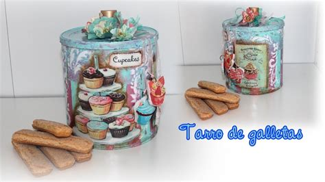 tutorial decoupage shabby chic tutorial decoupage shabby chic bote de galletas youtube