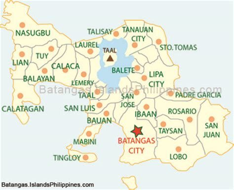 san jose tagaytay map batangas political subdivision batangas map islands