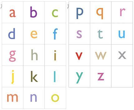 alphabet flash card template printable printable lowercase letters alphabet free