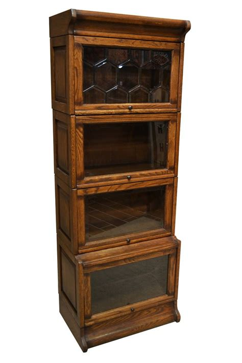 barrister bookcase leaded glass 4 stack barrister bookcase with leaded glass on the top