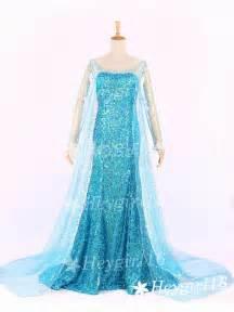 Hot blue sequins frozen elsa princess elsa prom dress by heygirl16