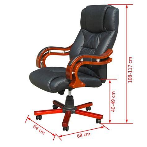 sedia girevole ufficio sedia poltrona ufficio girevole ve legno e pelle nera