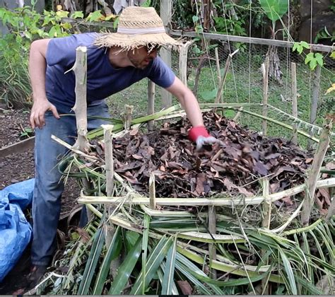 how to make a compost pile in your backyard how to make a simple compost pile with local materials