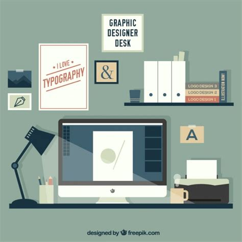 designer desk lovely graphic designer desk vector free