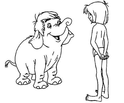 Coloriage A Imprimer Le Livre De La Jungle Mowgli Parle Coloriage Le Livre De La Jungle Mowgli Et Junior L