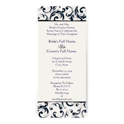wedding invitation size new sizes damask swirls wedding invitation zazzle