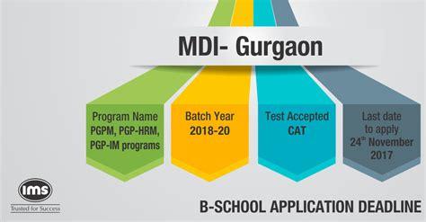 Mdi Executive Mba by Mdi Gurgaon Admission Notification And Application Process